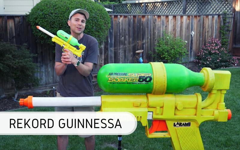 Rekord Guinnessa - Największy pistolet nawodę