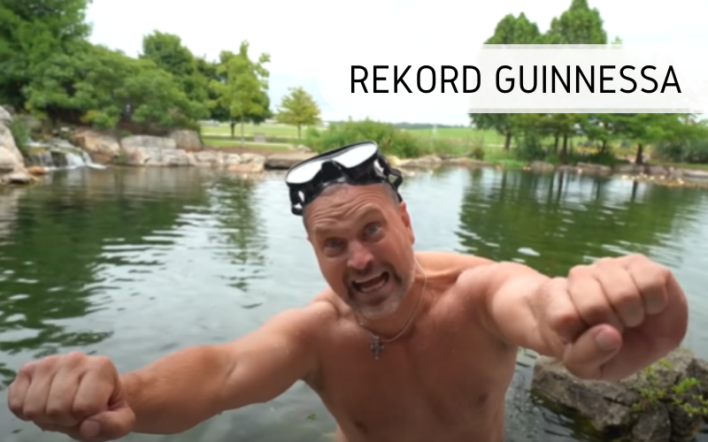 Rekord Guinnessa - wyciskanie sztangi pod wodą