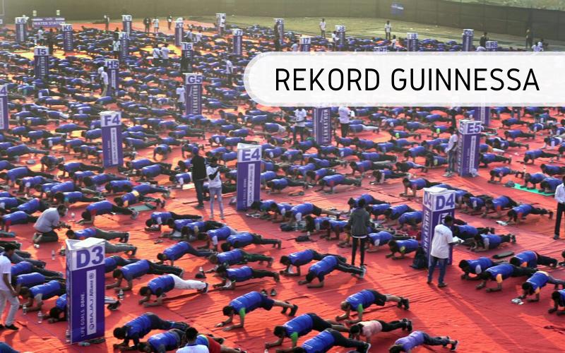 Rekord Guinnessa - najwięcej osób ćwiczących w pozycji deski (plank)