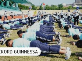 Najwięcej osób ćwiczących plank