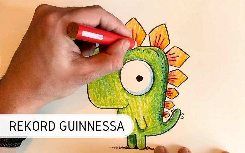 Rekord Guinnessa - Największa lekcja rysowania online