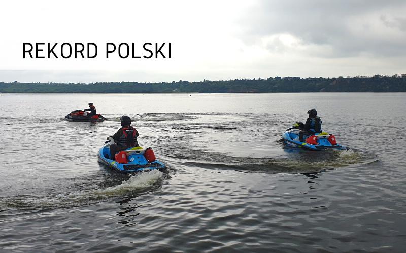 Rekord Polski - Najdłuższy dystans przepłynięty na skuterze wodnym w 24h