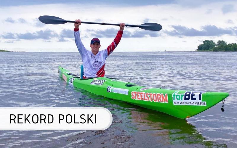 Rekord Polski - Najdłuższy dystans przepłynięty kajakiem na rzece w 24 godziny