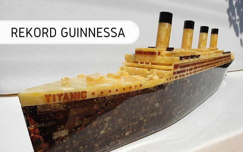 rekord Guinnessa - największa rzeźba z bursztynu