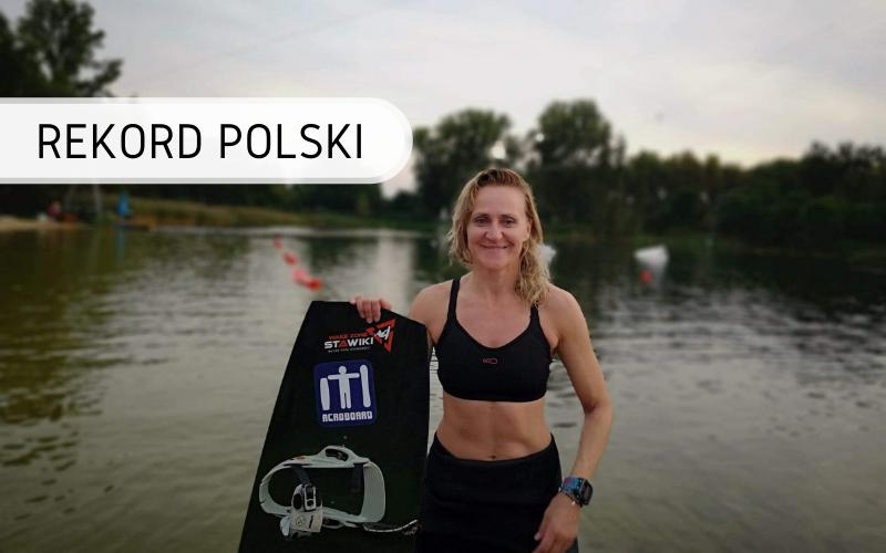 Rekord Polski - najdłuższy dystans na wakeboardzie 12 godzin