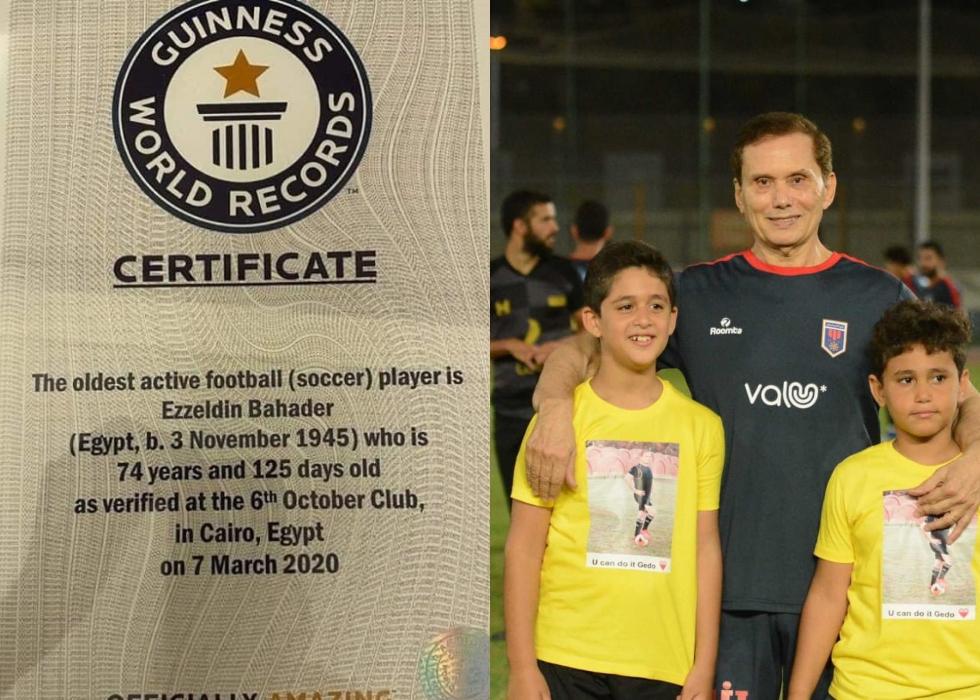 najstarszy piłkarz zrekordem Guinnessa
