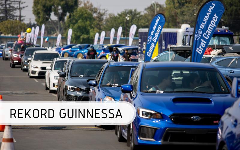 parada Subaru - rekord Guinnessa