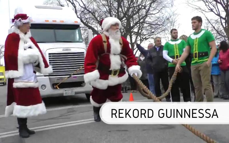 Rekord Guinnessa - najcięższe sanie Świętego Mikołaja