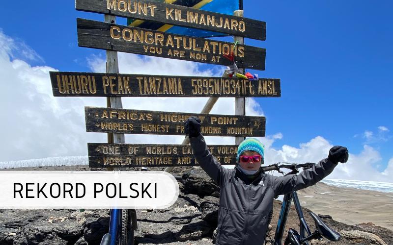Rekord Polski - najmłodsza osoba zjazd z Kilimandżaro (1)