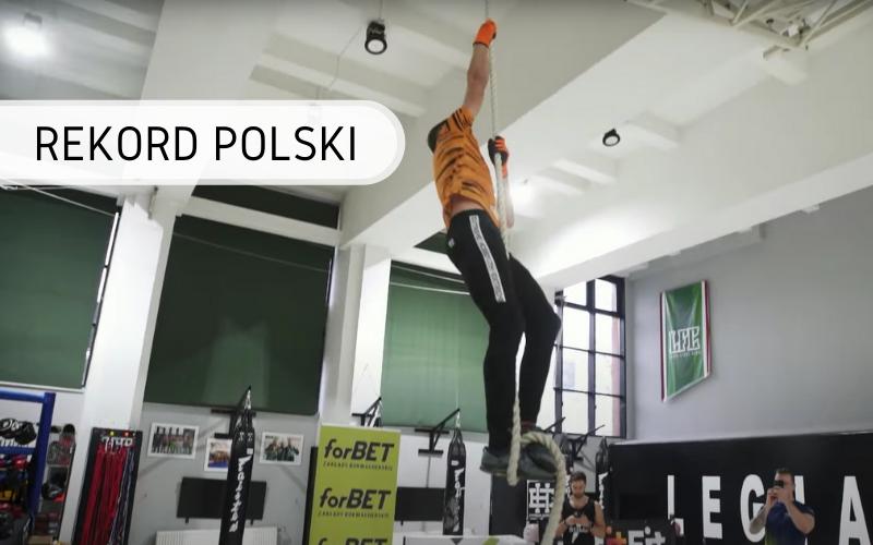 Rekord Polski - wchodzenie po linie w 1 godzinę