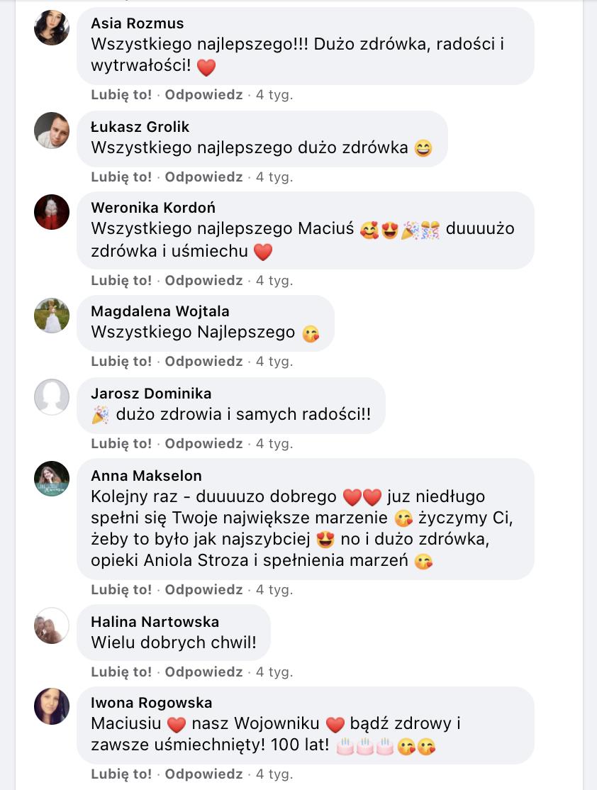 rekord polski - komentarze zzyczeniami naFB