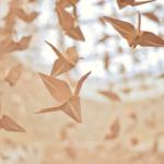 Największa wystawa żurawi origami