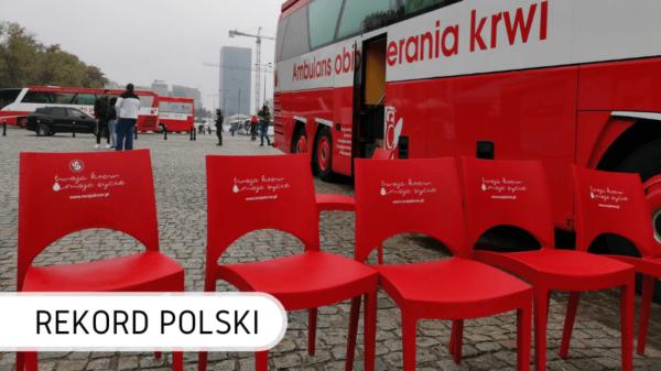 Oddawanie krwi na Rekord Polski