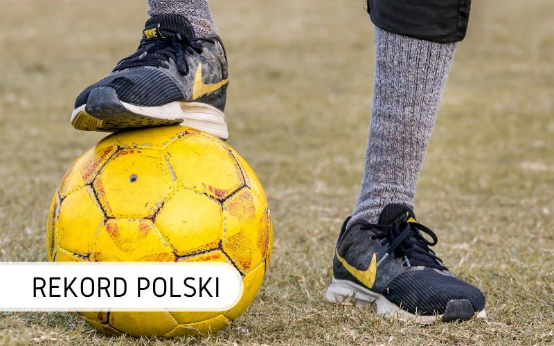Rekord Polski podbicia piłką nożną