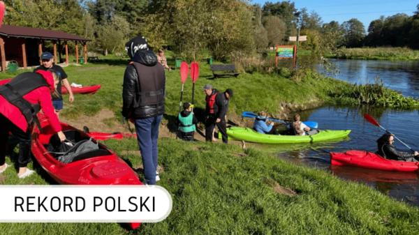 Rekord Polski sprzątanie rzeki Wkra